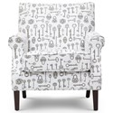 Jofran Easy Living Victoria Accent Chair - Item Number: VICTORIA-CH-NATURAL