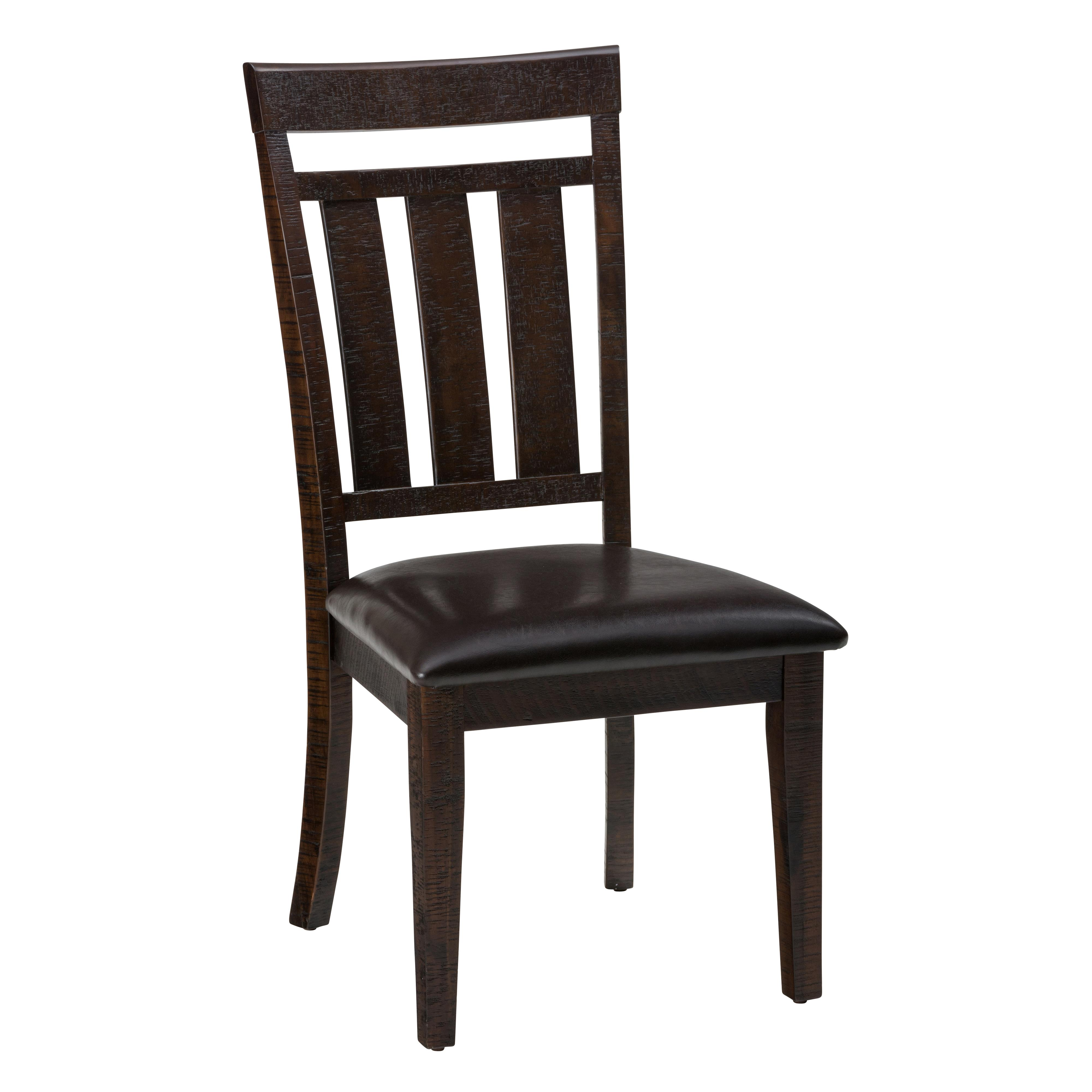 Upholstered Slat back Dining Chair