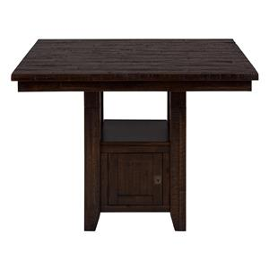 Jofran Kona Grove Fixed Pub Table with Storage Base
