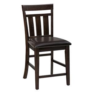 Jofran Kona Grove Upholstered Slat back Stool