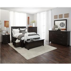 Jofran Kona Grove California King Bed