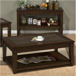 Jofran Lexington Brown Castered Cocktail Table
