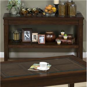 Jofran Lexington Brown Sofa Table