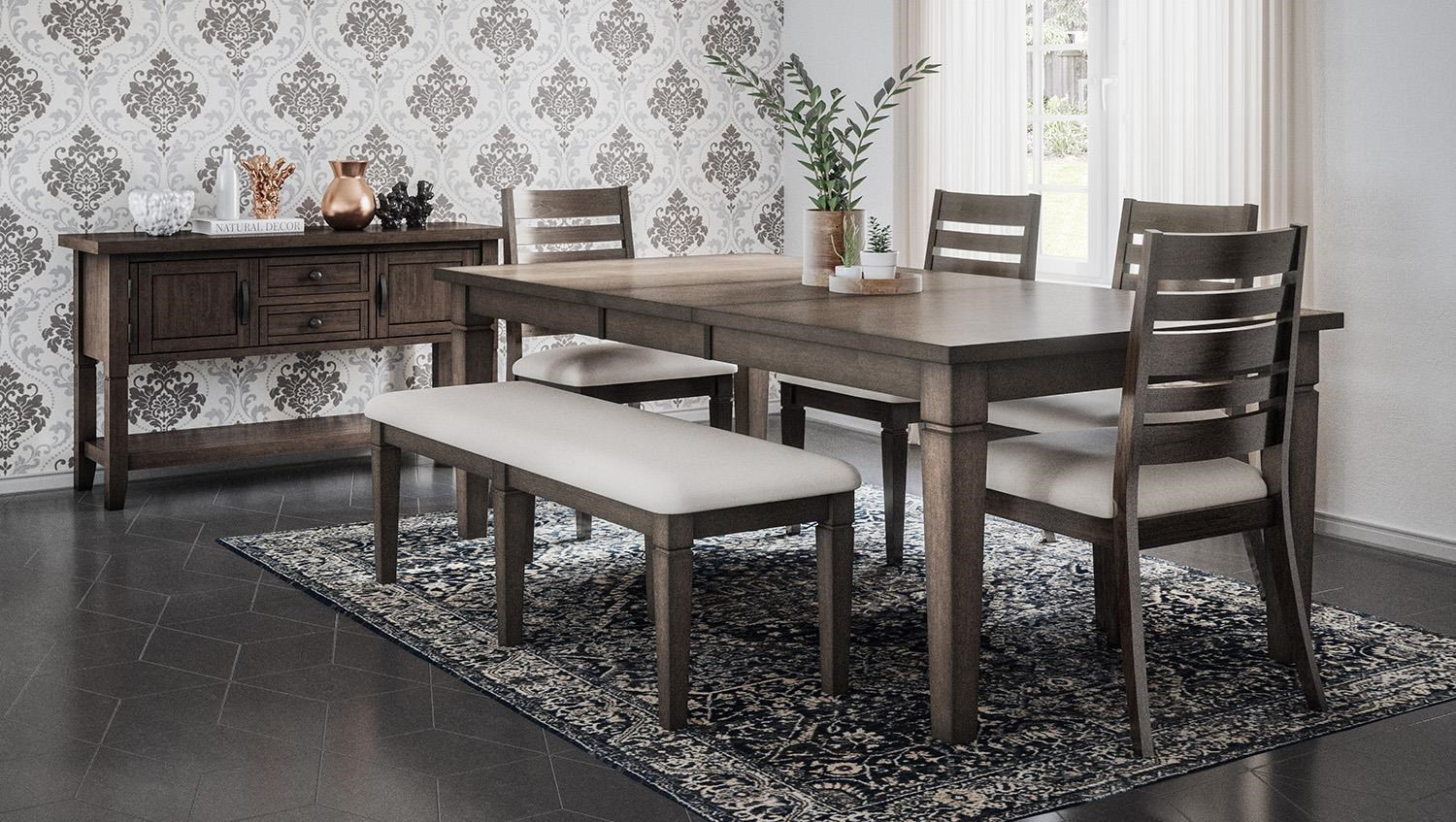 Lincoln Square Table and Chair Set with Bench by Jofran at Stoney Creek Furniture