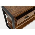 Jofran Loftworks Sofa Table with Drawers - Drawer Detail Shot