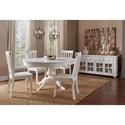 Jofran Madaket Table and Chair Set - Item Number: 647-66B+66T+6x647-831KD