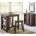 Jofran Madison County 3 Piece Counter Height Table Set - Item Number: 1700-36