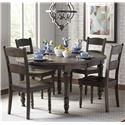 Jofran Madison County Table & 4 Chairs - Item Number: 1700-66+4X401KD