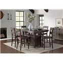 Jofran Myersville - Barnwood 7PC Table & Chair Set - Item Number: 1700-72+6x-BS401KD