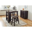 Jofran Madison County Counter Height Table Set - Item Number: 1702-36