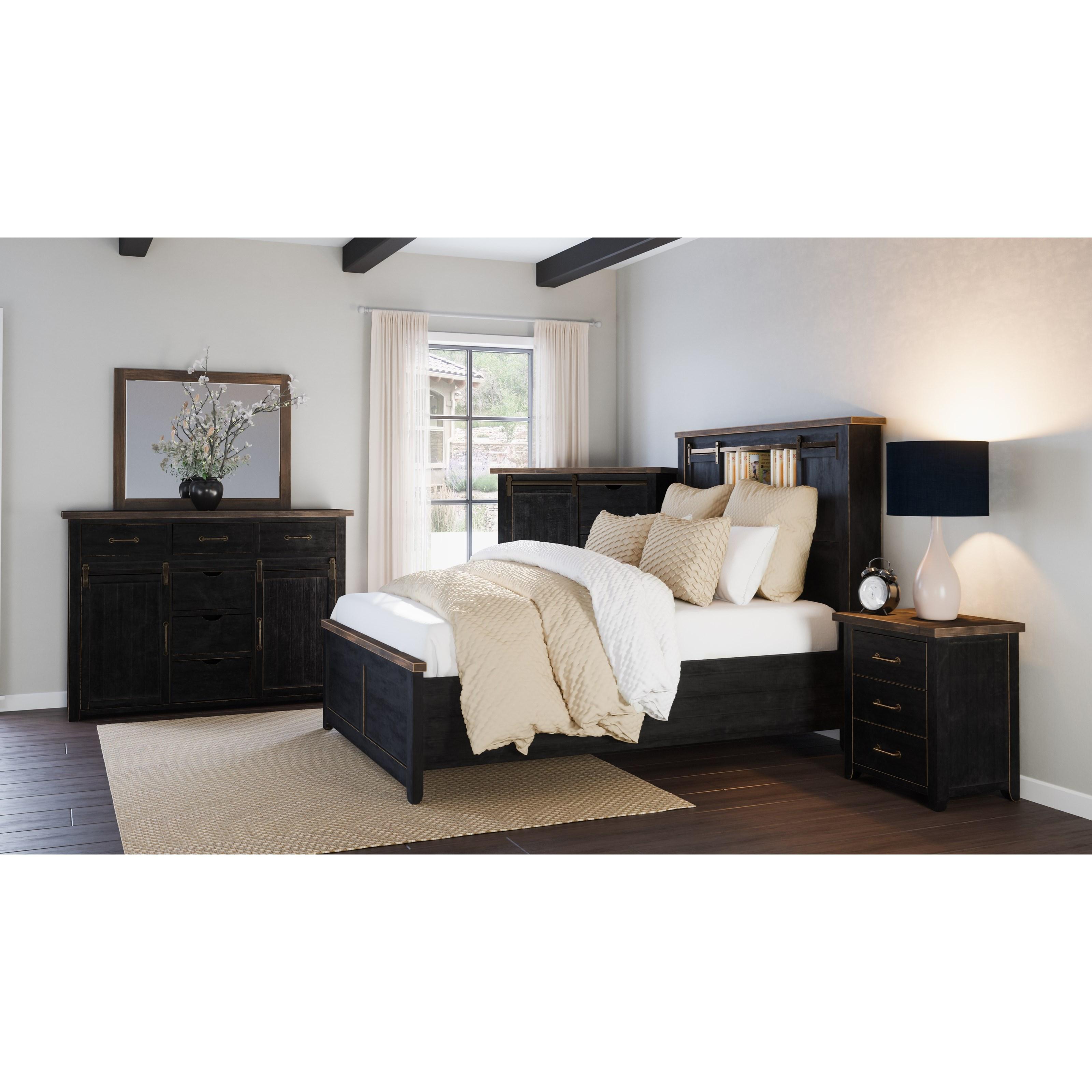 Jofran Madison County Queen Barn Door Bed Lindy S