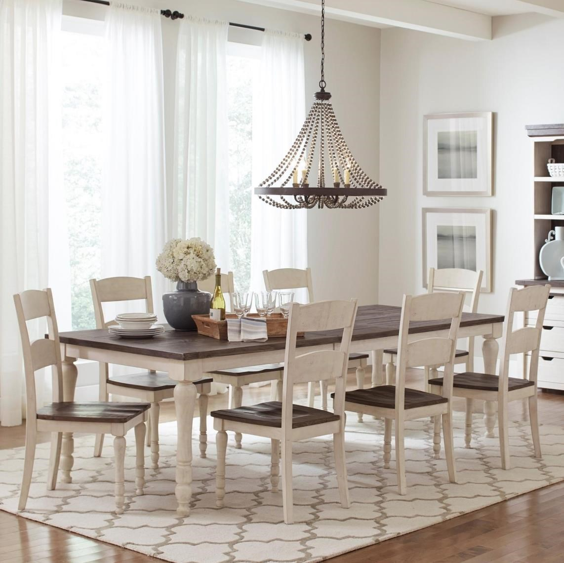 Rectangular Table and 8 Chairs