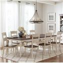Jofran Madison County Rectangular Table and 8 Chairs - Item Number: 1706-106+10X401KD
