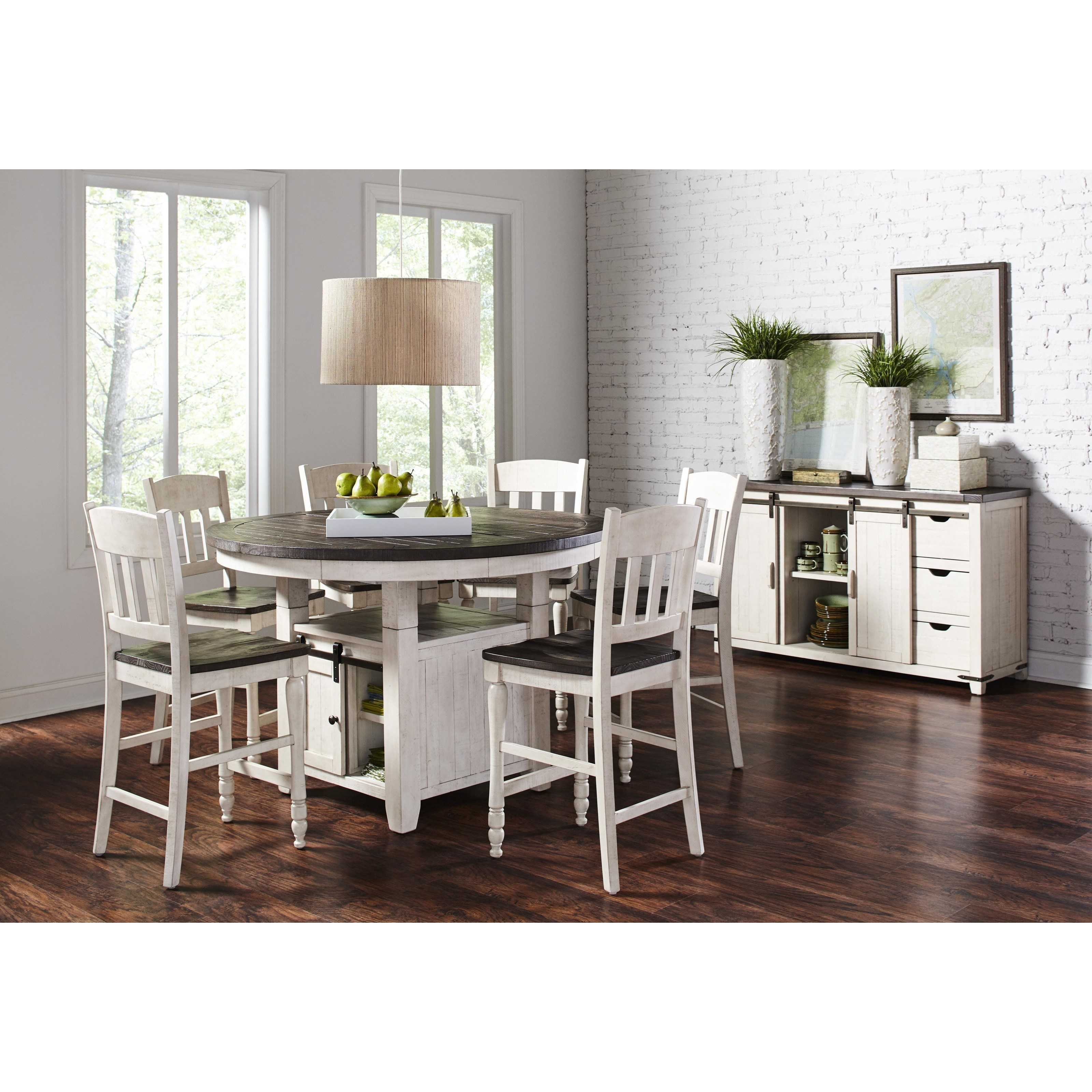 low dining room table | Jofran Madison County High/Low Round Dining Table | H.L ...