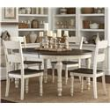 Jofran Madison County Table & 4 Chairs - Item Number: 1706-54+4X401KD
