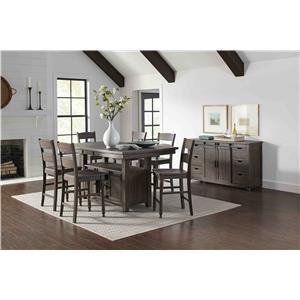 Counter Height Table & 6 Stools