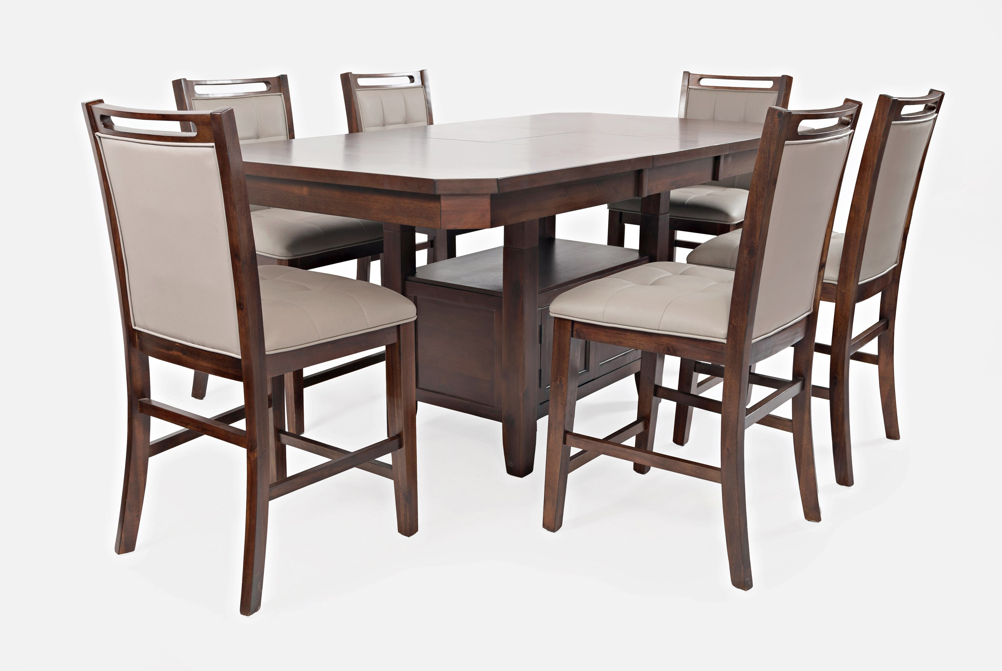 low dining room table | Jofran Manchester 1672-78T/B High/Low Rectangle Dining ...