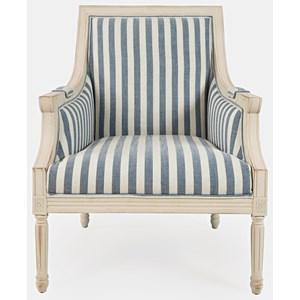Accent Chair - Blue Stripe