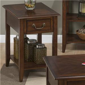 Jofran Medium Cherry Chairside Table