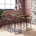 Jofran Nature's Edge 5-Piece Counter Table and Stool Set - Item Number: 1781-52+BS160KD5PC