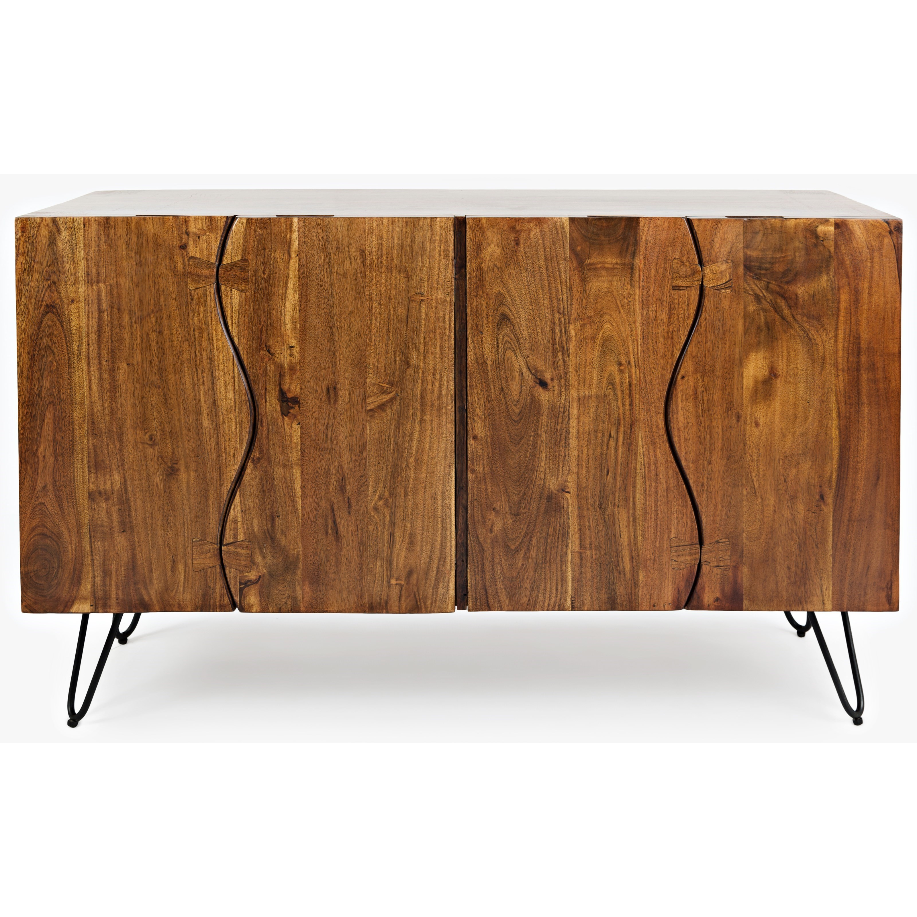 Nature's Edge Sideboard with 4 Live Edge Doors by Jofran at Red Knot