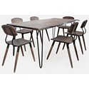 Jofran Nature's Edge 7-Piece Table and Chair Set - Item Number: 1981-79+6x340KD