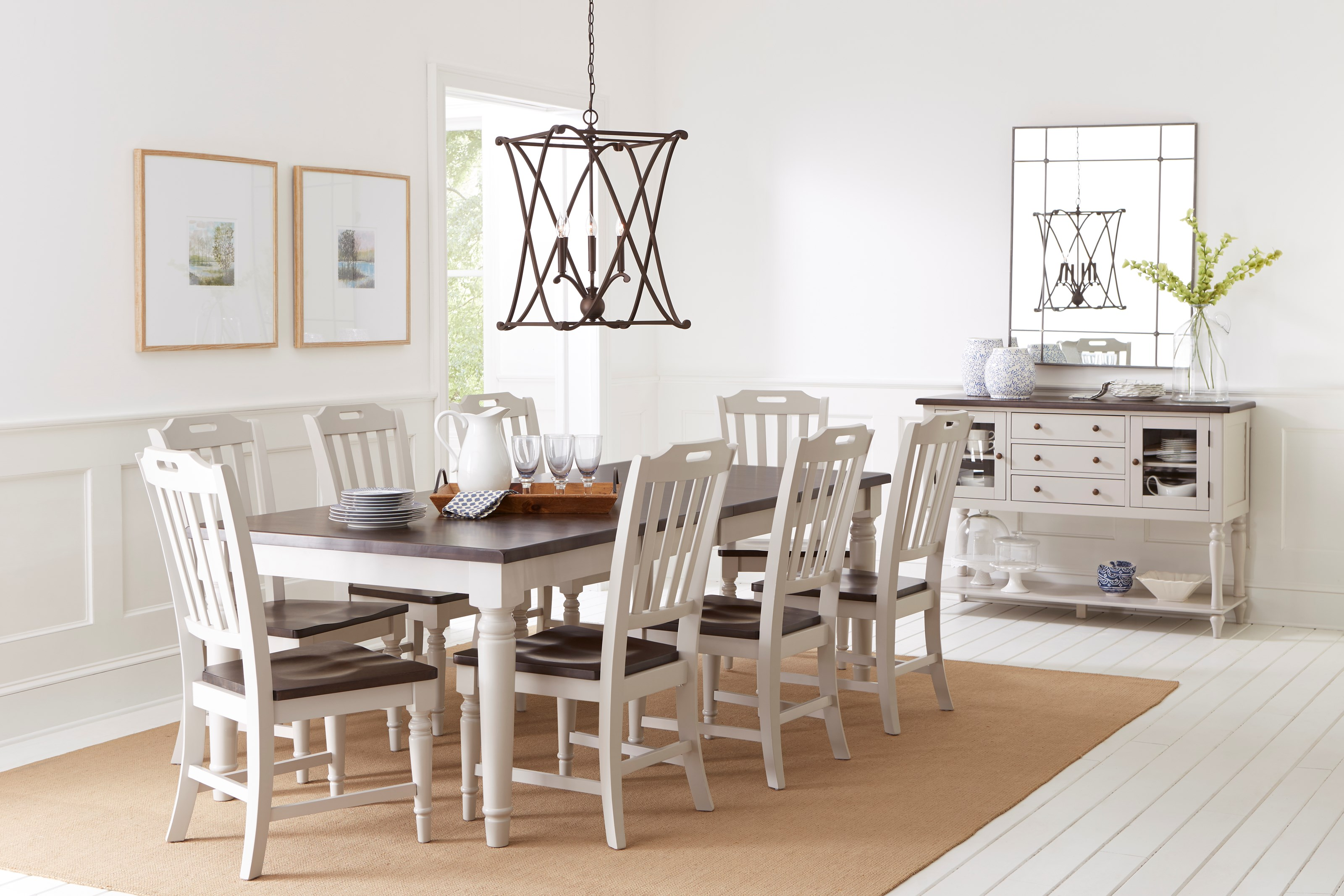 Picture of: Jofran Orchard Park Dining Table With 8 Chairs Value City Furniture Dining 7 Or More Piece Sets