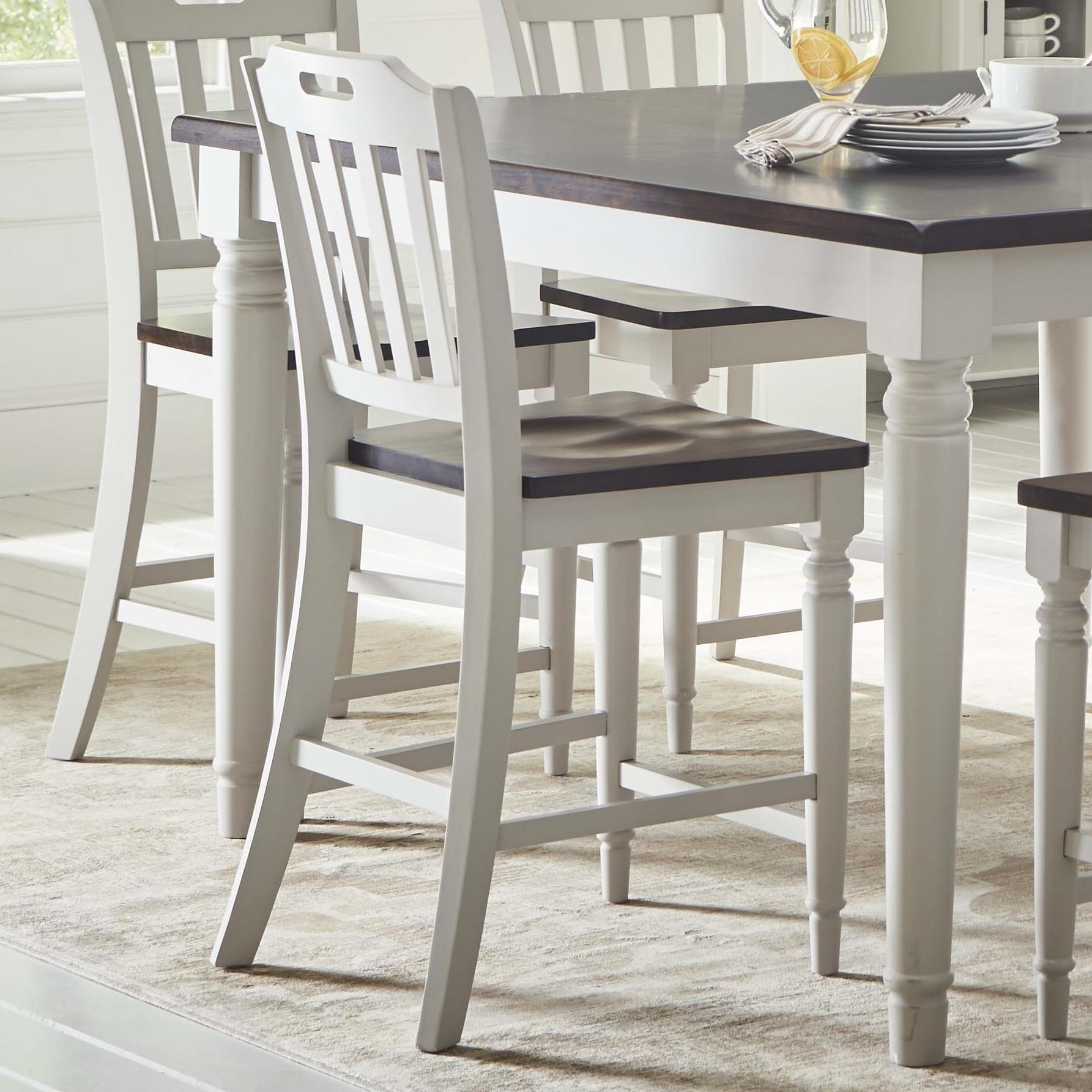 Orchard Park Slatback Counter Height Stool by Jofran at Jofran