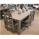 Jofran Outer Banks Dining Table & 6 Side Chairs - Item Number: GRP-1841-TBL 6