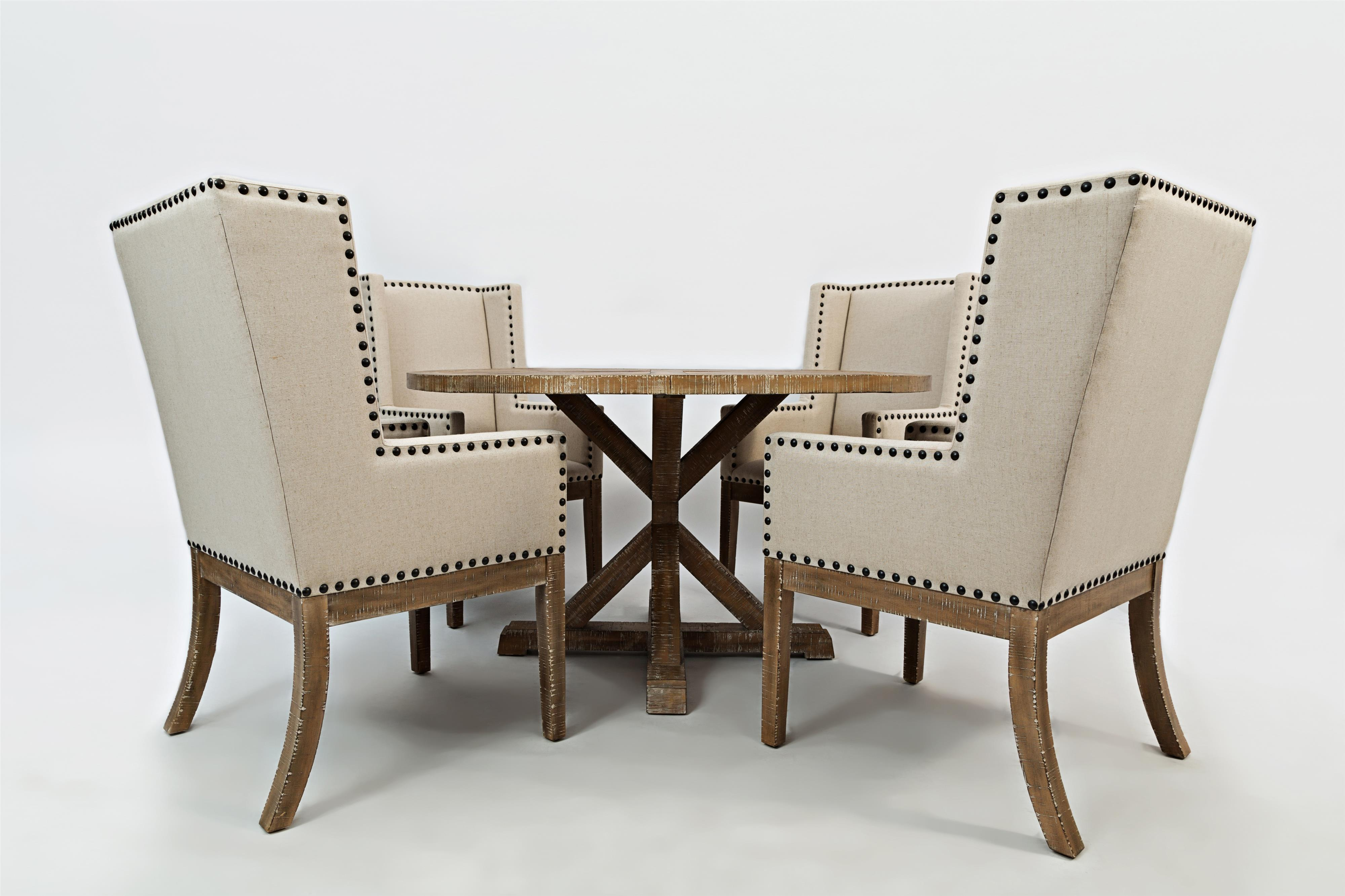 Morris Home Furnishings Pacific Heights Outerbanks Round Dining Table and Chair Set - Item Number: 1590-52B+52T+4x198KD