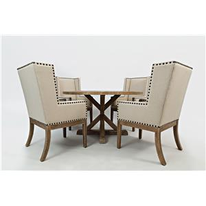 Morris Home Furnishings Pacific Heights Outerbanks Round Dining Table and Chair Set