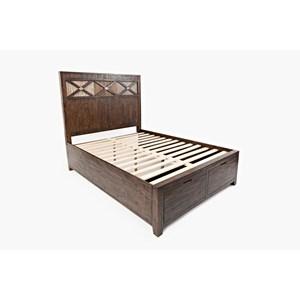 Queen Size Headboard & Footboard Storage Bed