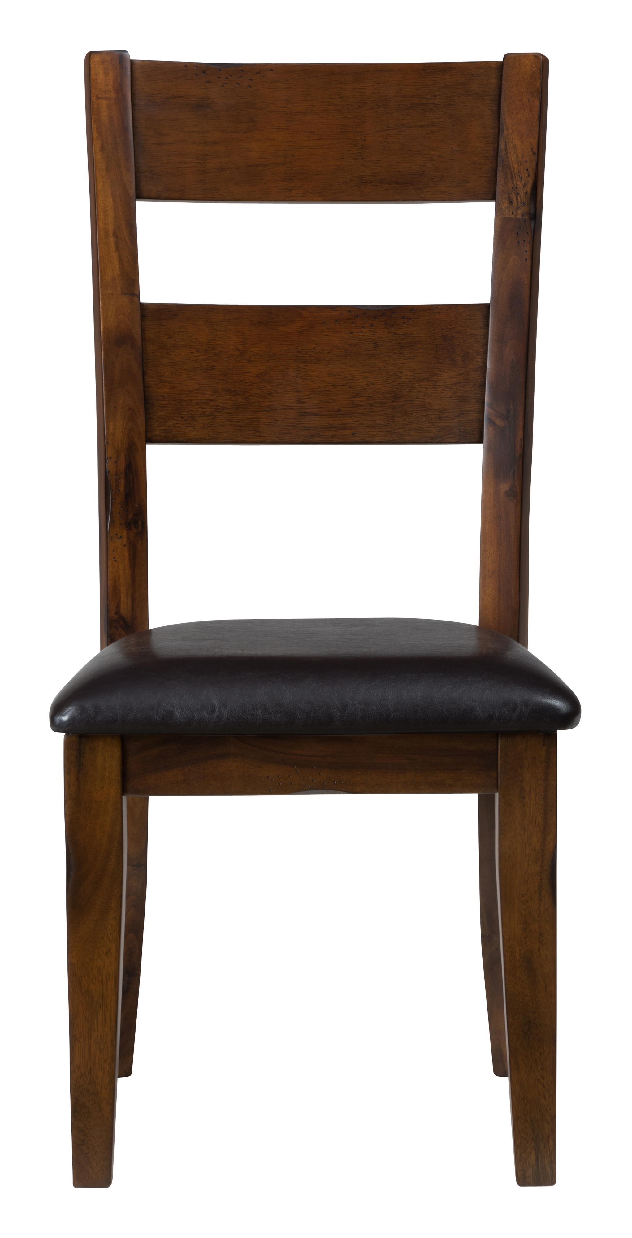 Jofran Plantation Ladderback Upholstered Side Chair  - Item Number: 505-219KD