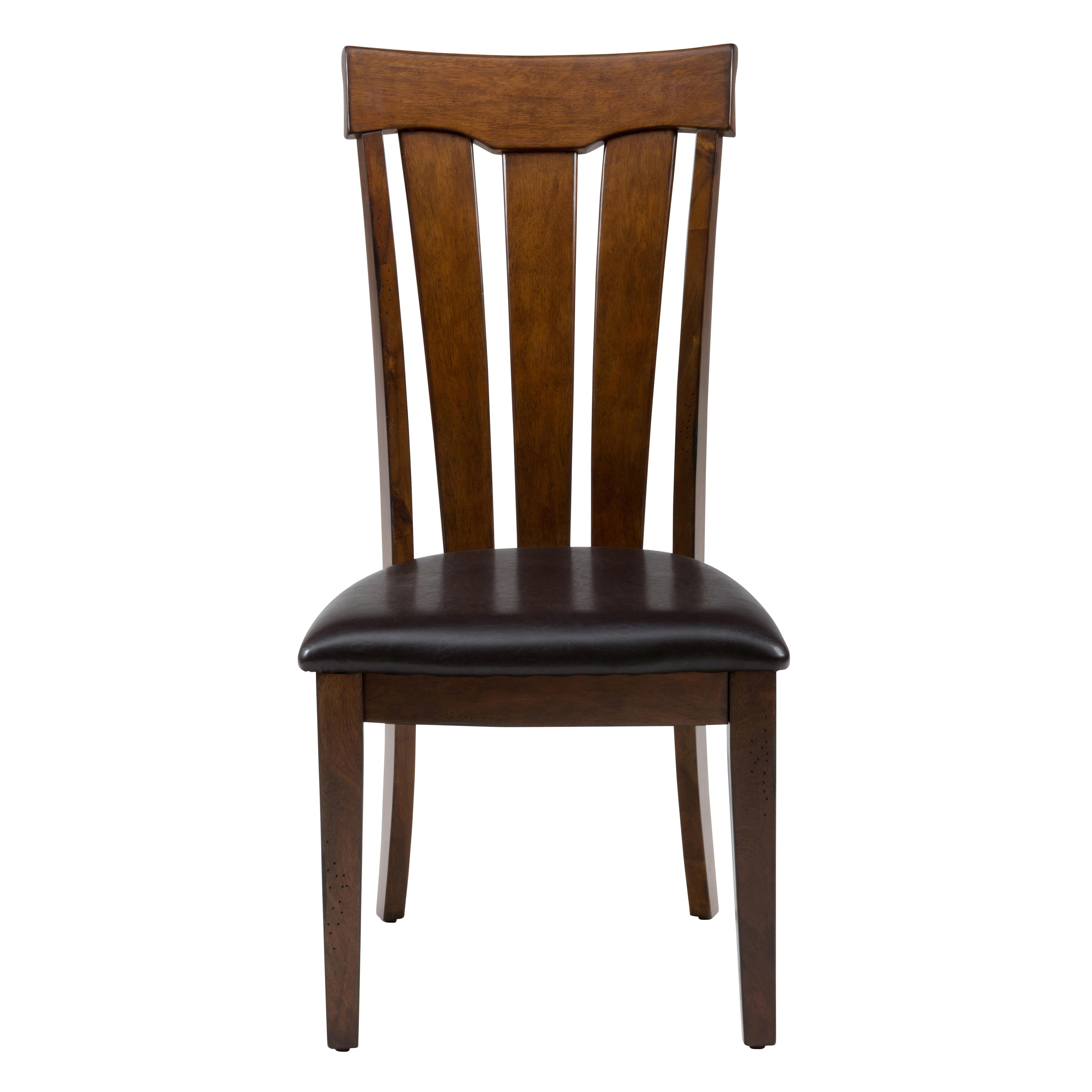Jofran Plantation Slat Back Chair with Upholstered Seat - Item Number: 505-423KD