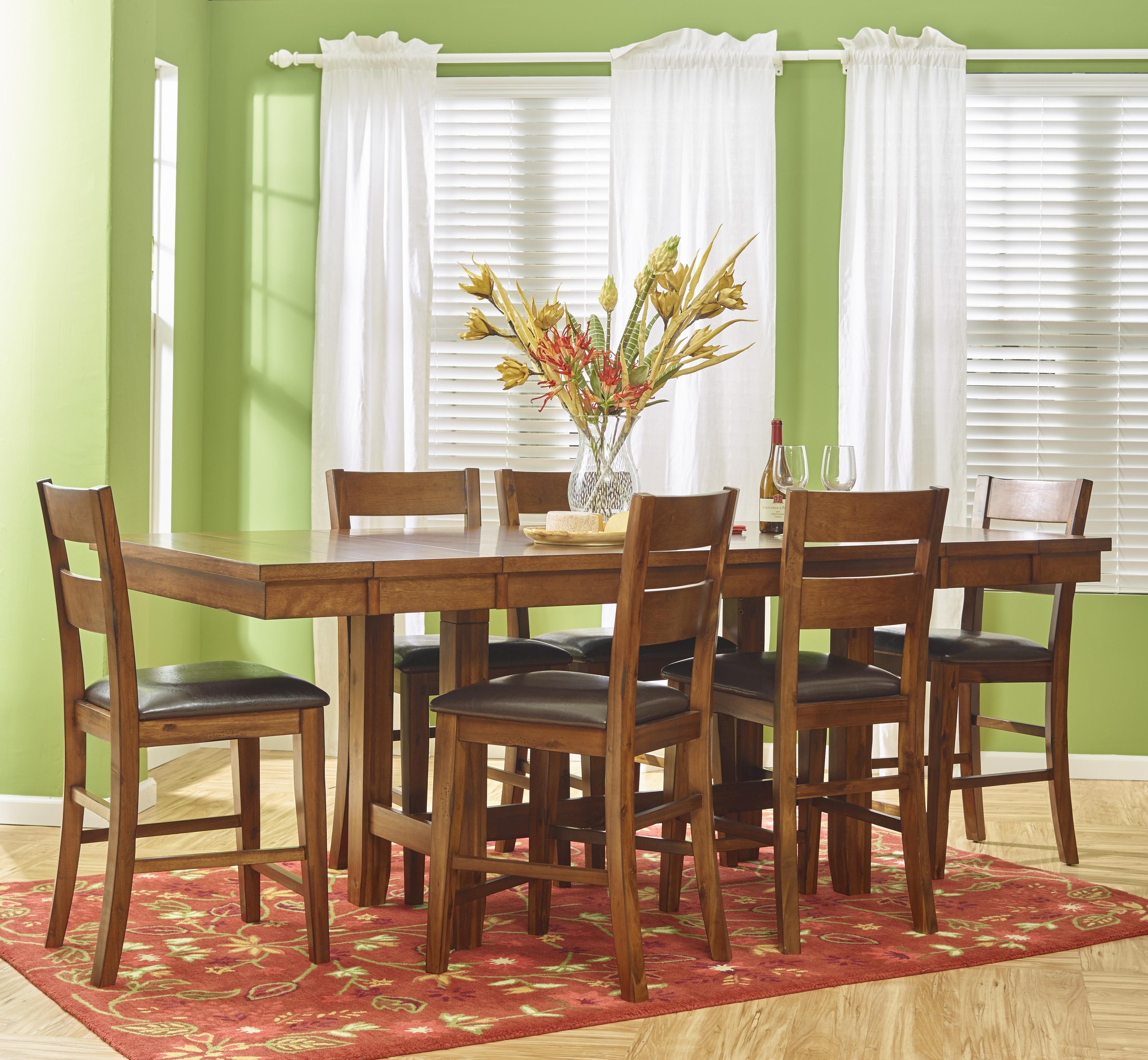 Jofran Plantation 7-Piece Dining Counter Height Set - Item Number: 505-93+6xBS219KD