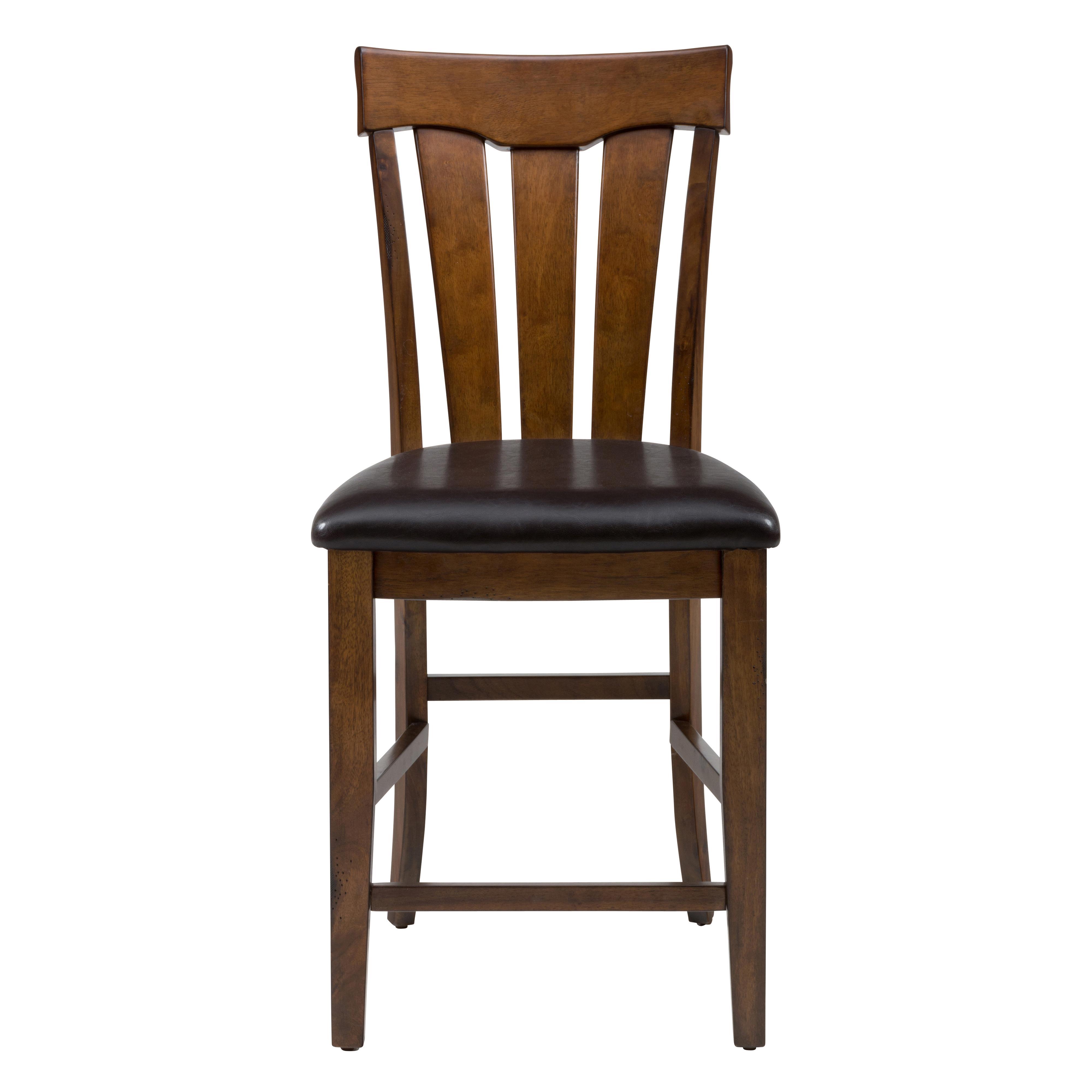 Jofran Plantation Slat Back Stool with Upholstered Seat - Item Number: 505-BS423KD