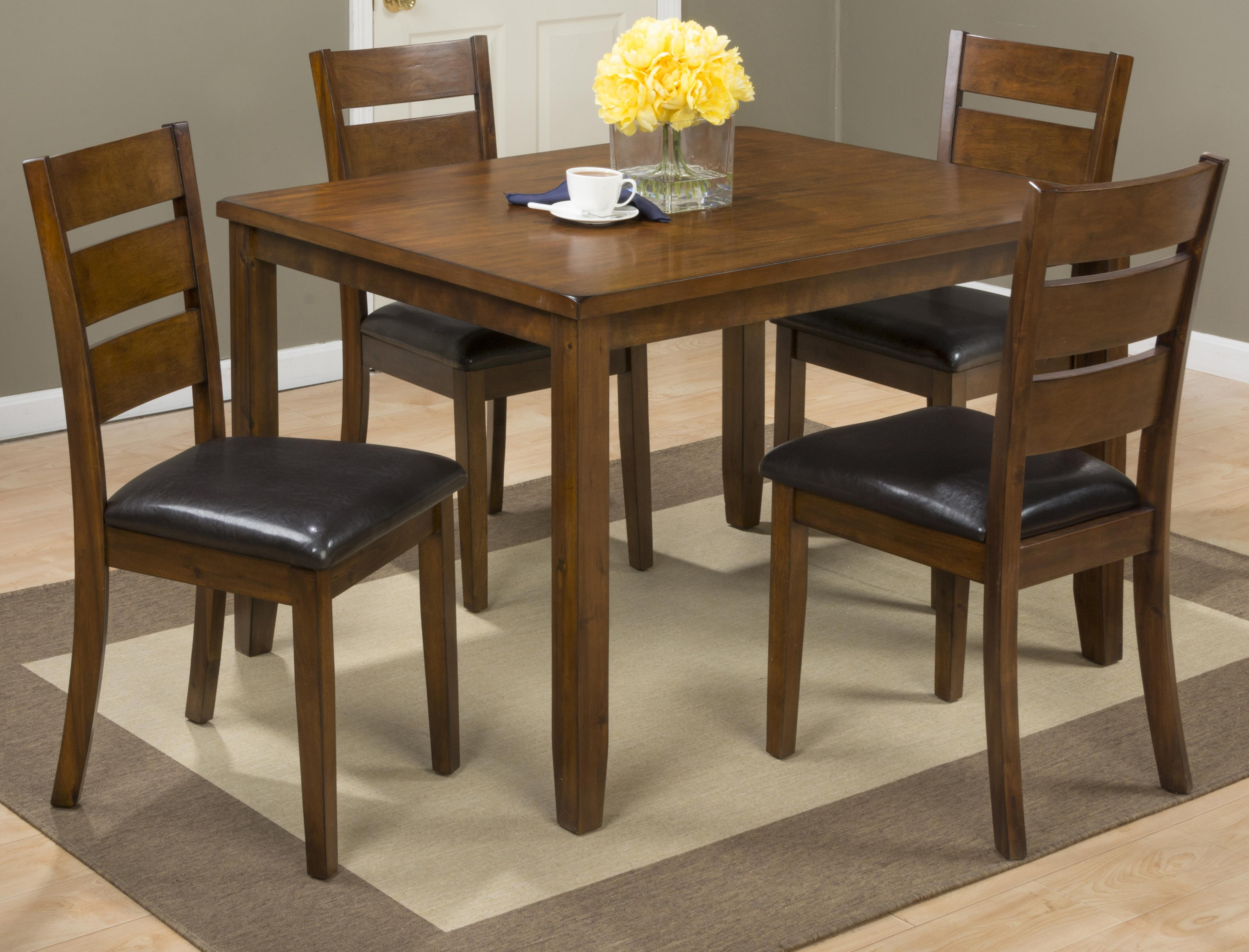 Plantation 5 Pack- Table with 4 Chairs by Jofran at Jofran