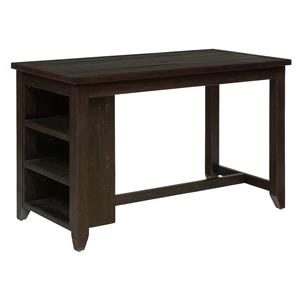 Jofran Prospect Creek Counter Height Table with 3 Shelf Storage
