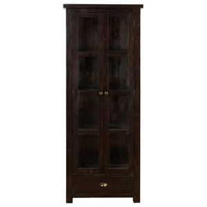 Jofran Prospect Creek Pine Tall Display Cupboard