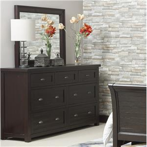 Jofran Prospect Creek Dresser and Mirror Combo