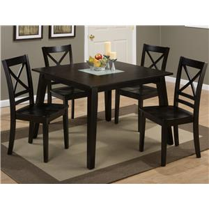 Morris Home Furnishings Milstead Milstead Square Table and Chair Set