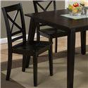 "Jofran Roasted Java ""X"" Back Side Chair  - Item Number: 852-806KD"