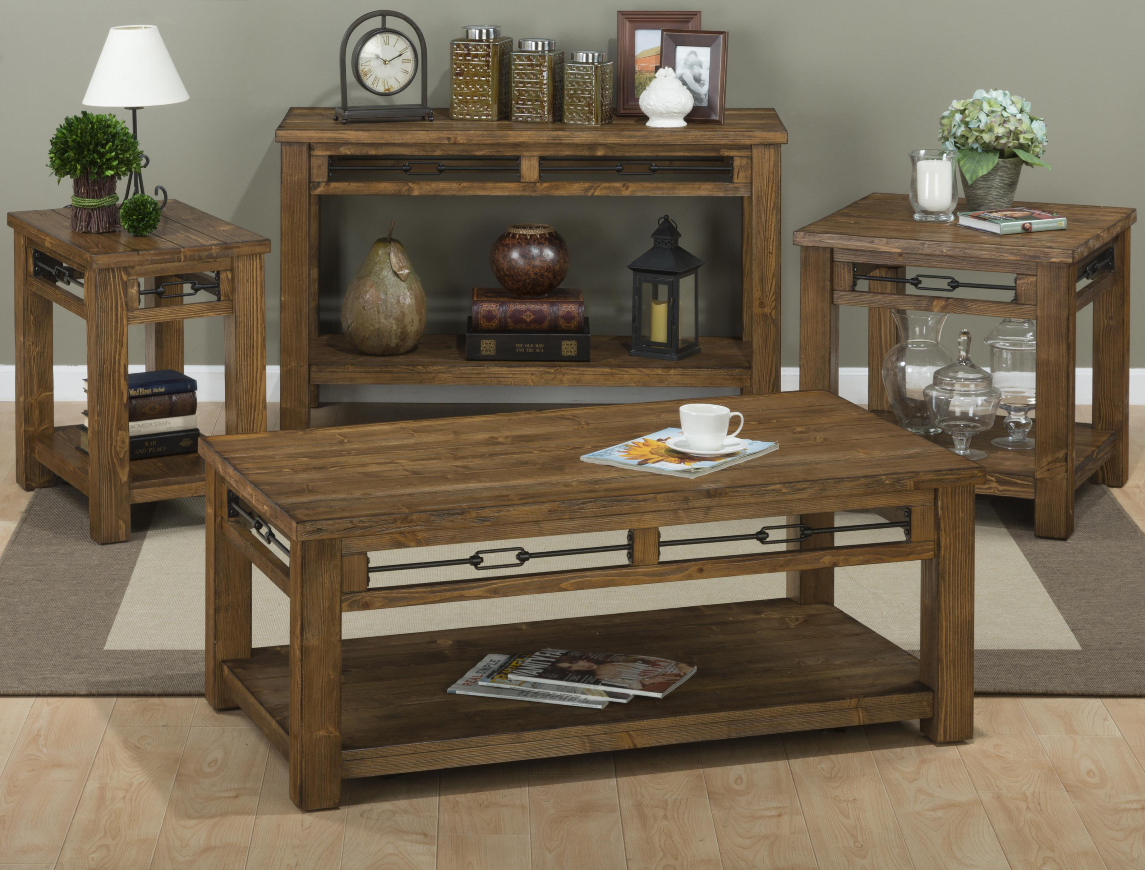 Jofran San Marcos Rectangle End Table Made Of Solid Pine Darvin Furniture End Tables