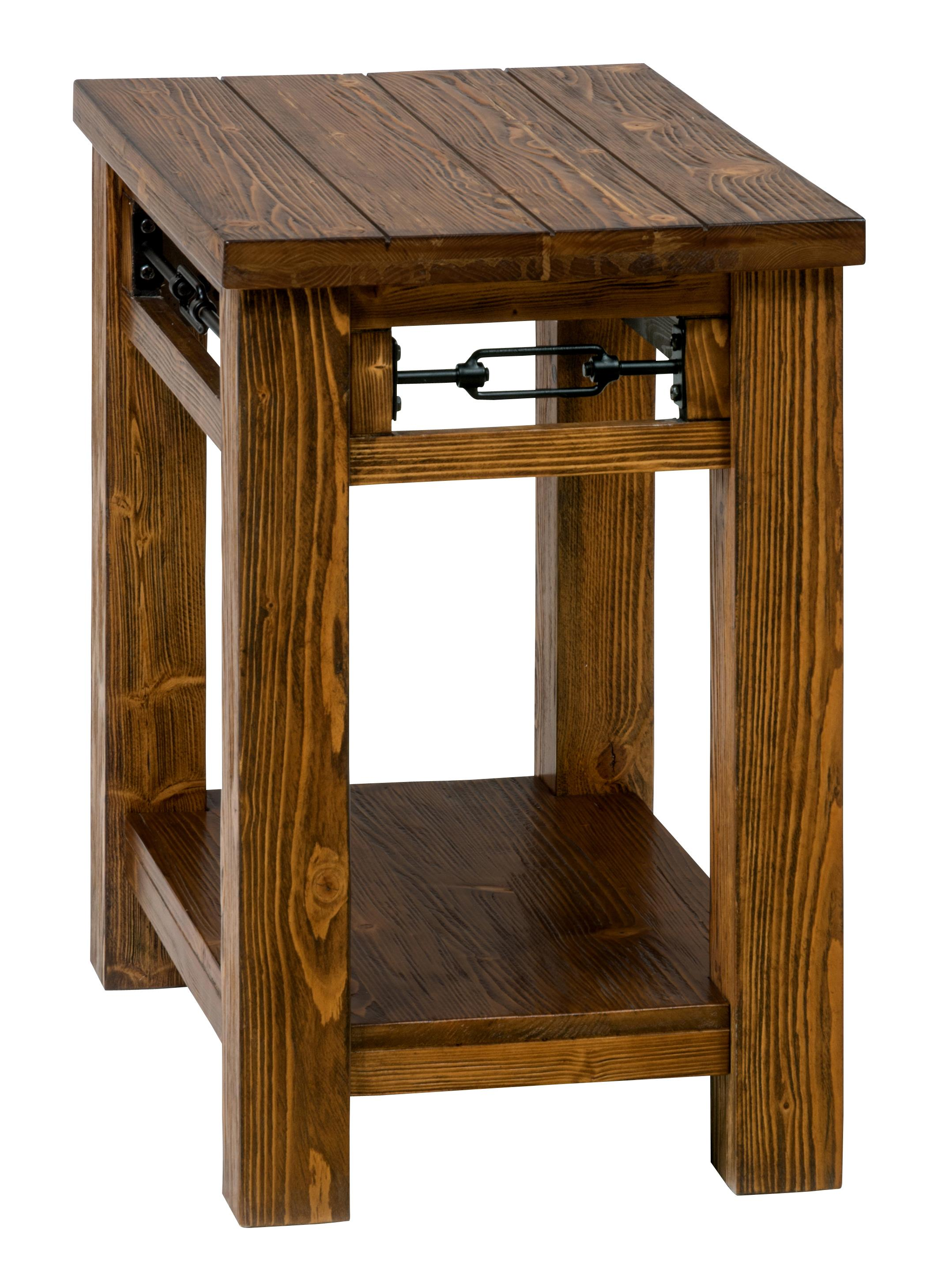 Jofran San Marcos Rectangle Chairside Table Made Of Solid Pine Darvin Furniture End Tables