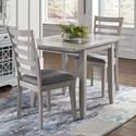 Jofran Sarasota Springs Drop Leaf Table and 2 Chair Set - Item Number: 1638-30+2x380KD