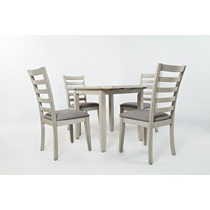 Jofran Sarasota Springs Drop-Leaf Table and 4 Chair Set