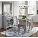 Jofran Sarasota Springs Tiled Table and TWO chairs