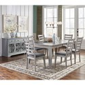 Jofran Sarasota Springs Tiled Extension Dining Table and Chair Set