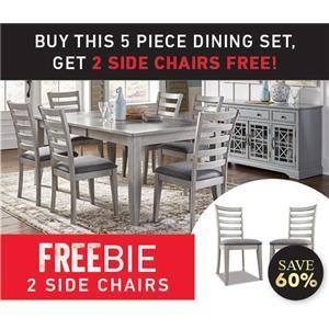 Stoneridge 5-Piece Dining Set and Freebies!