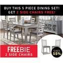 Morris Home Furnishings Stoneridge Stoneridge 5-Piece Dining Set - Item Number: 459277529